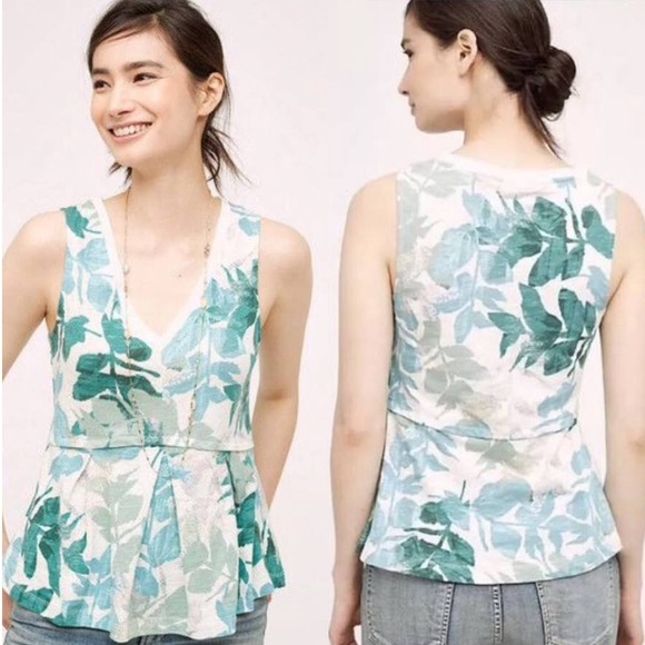 Anthropologie Tops - ⭐️CLOSET CLOSING Anthro Amalia Deletta Peplum Top